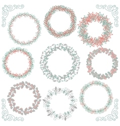 Colorful Hand Sketched Rustic Frames Borders vector image