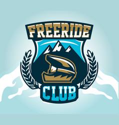 colorful logo emblem sticker extreme cyclist vector image