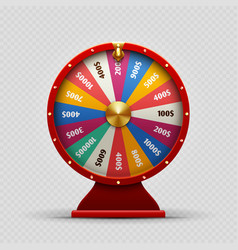 Colorful realistic casino fortune wheel on vector
