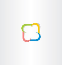 Colorful square logo abstract business technology vector