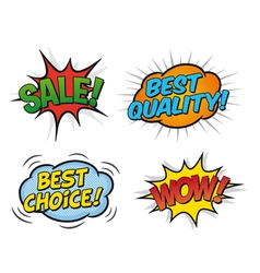 comic speech bubbles 03b vector image