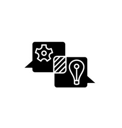 creative discussion black icon sign on vector image