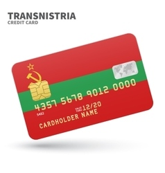 Credit card with Transnistria flag background for vector image