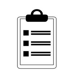 data analysis clipboard list check marketing line vector image