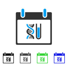 Dna analysis calendar day flat icon vector