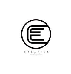 e letter icon logo design with monogram creative vector image