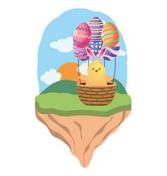 easter chicken cartoon vector image