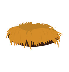 Empty bird nest vector