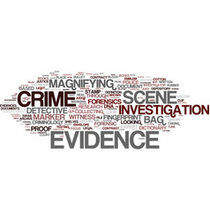 Evidence word cloud concept vector