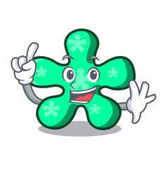 Finger free form mascot cartoon vector