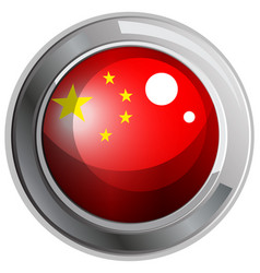 flag of china in round frame vector image vector image