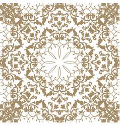 Floral pattern flourish tiled ethnic background vector