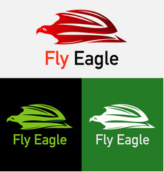 Flying eagle logo template vector