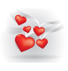 Flying Hearts vector image