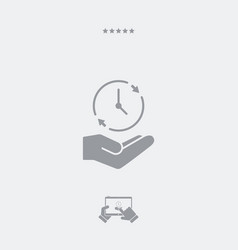 Full time services - minimal modern icon vector