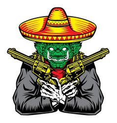Giant gun hat green red yellow vector