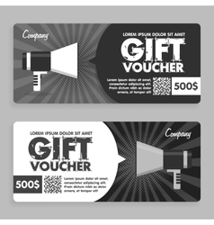 Gift Voucher Flat Design Announcement vector image