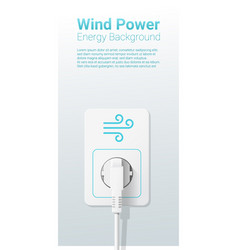 Green energy concept background with wind power vector