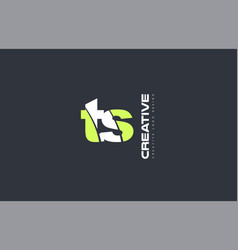 green letter ts t s combination logo icon company vector image