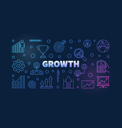 growth colored thin line or vector image