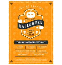 Halloween celebrations vintage label on the vector