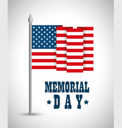 Happy memorial day flag vector