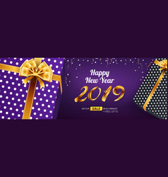 happy new year 2019 sale banner advertising vector image