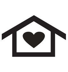home heart icon vector image