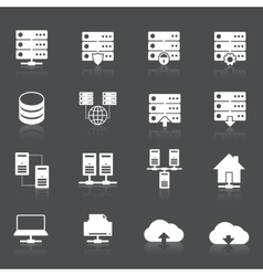 Hosting Network Icons vector