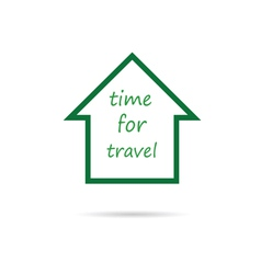 house travel vector image
