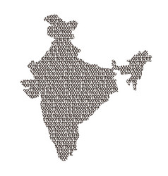 India map abstract schematic from black ones and vector