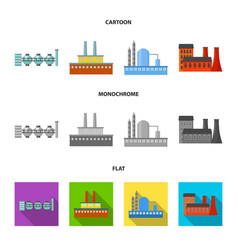 Industry productionfactory set collection icons vector