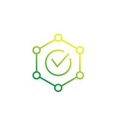 Integrity icon line vector