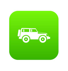 jeep icon digital green vector image