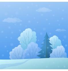 landscape winter forest vector image