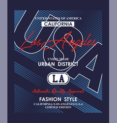 los angeles usa typography design vector image