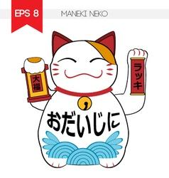 Maneki Neko vector image