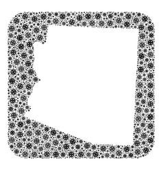 Map arizona state - flu virus mosaic with vector