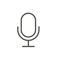 Microphone icon line record symbol vector