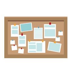 Office cork board vector