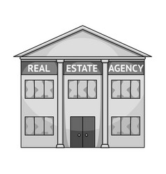 Office real estate agencyrealtor single icon in vector