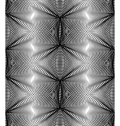 Pattern with black graphic lines kaleidoscope vector