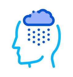 rainy cloud cloudburst silhouette headache vector image