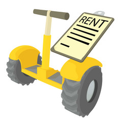 rent segway icon cartoon style vector image