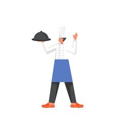 restaurant cook flat style design vector image