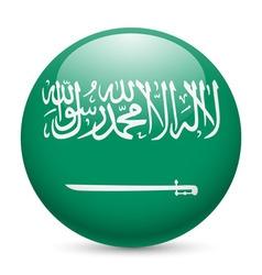 Round glossy icon of saudi arabia vector image