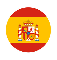 Round shape flag of spain vector