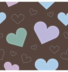 Seamless hearts background vector image