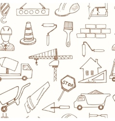 Seamless pattern with doodle sketch Architecture vector image