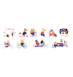 set male or female characters swift banking vector image